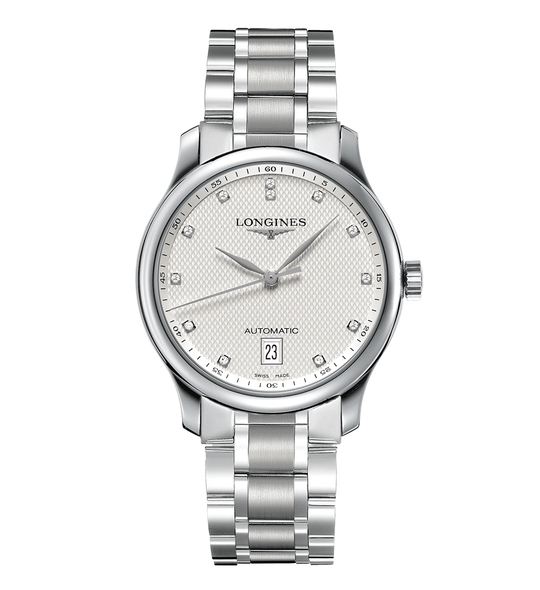 The Longines Master Collection, 38mm, Silver, Stainless Steel with Diamonds